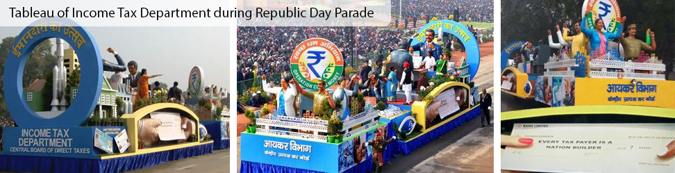 Tableau of Income Tax Department during Republic Day Parade